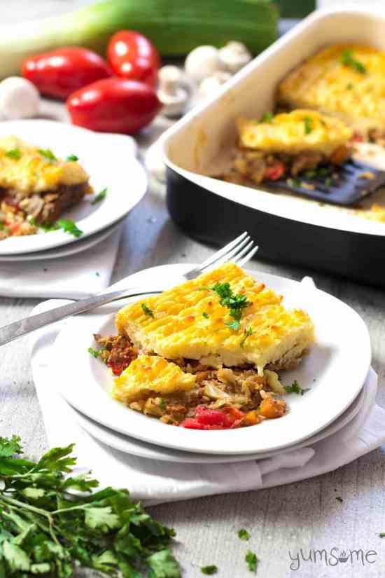 Vegan Mushroom and Buckwheat Shepherd's Pie