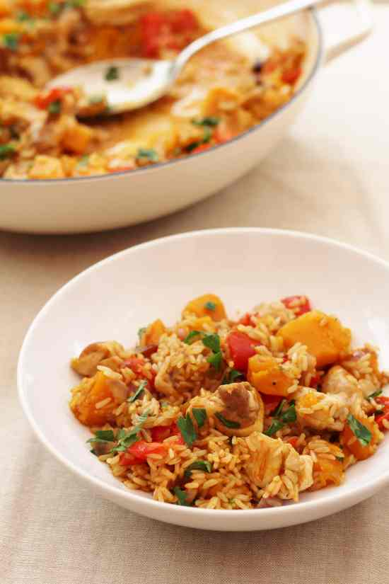 Chicken and Butternut Squash Pilaf