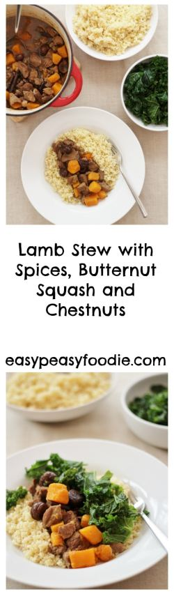 A delicious, easy and seasonal recipe from the 'LAMB. Tasty Easy Fun' Campaign, this Lamb Stew with Spices, Butternut Squash and Chestnuts is perfect for a busy weeknight.