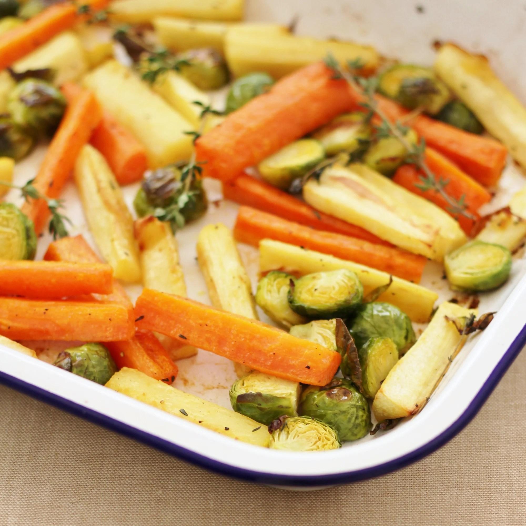 easy christmas vegetable traybake easy peasy foodie - Christmas Dish