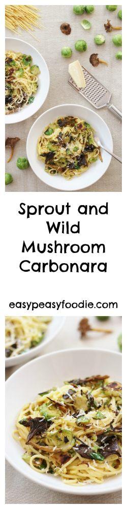 Sprout and Wild Mushroom Carbonara