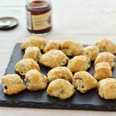 Turkey, Cranberry and Feta Sausage Rolls