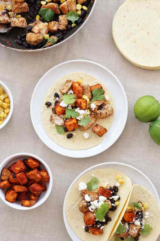 Turkey, Sweet Potato and Black Bean Tacos