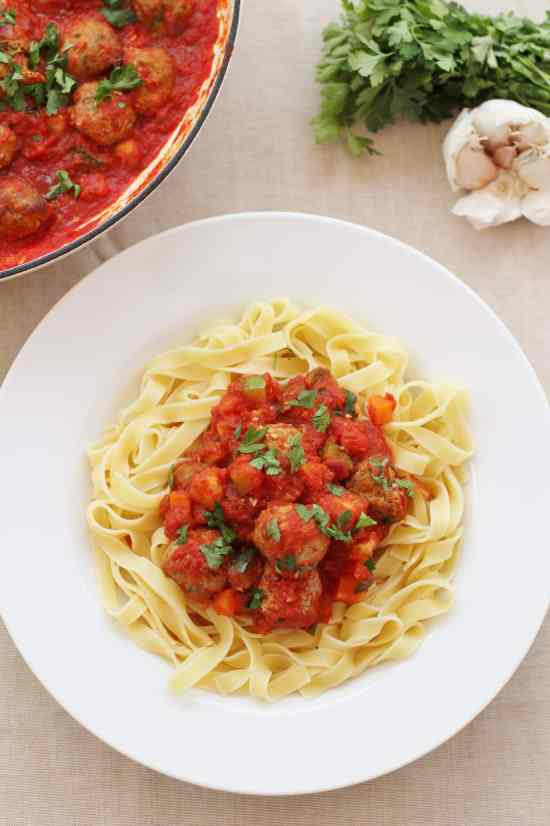 Lamb Meatballs in Tomato Sauce