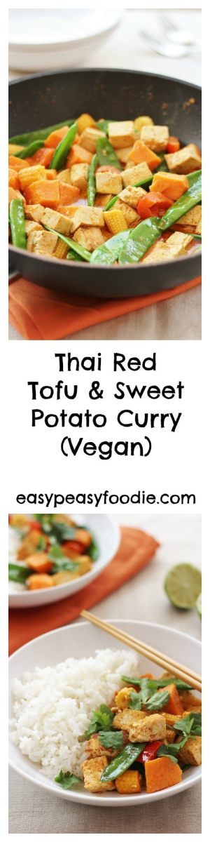 Thai Red Tofu and Sweet Potato Curry (Vegan)