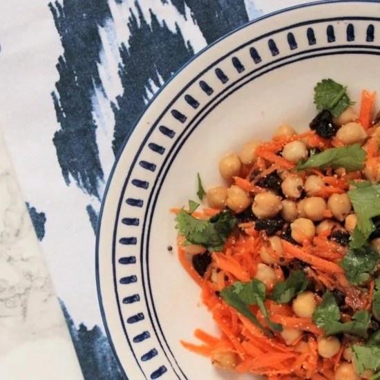 5 Minute Moroccan Vegan Salad