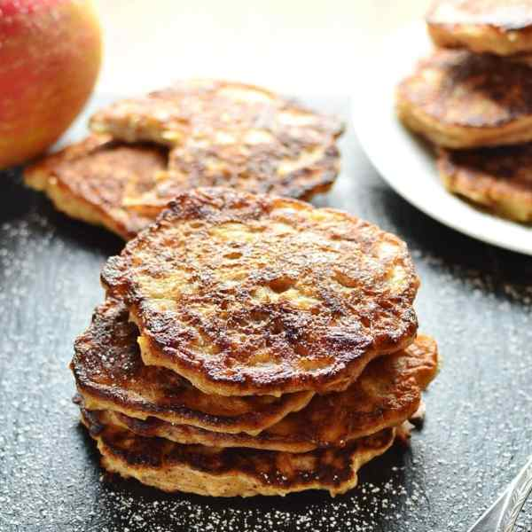 Apple Pie Healthy Pancakes