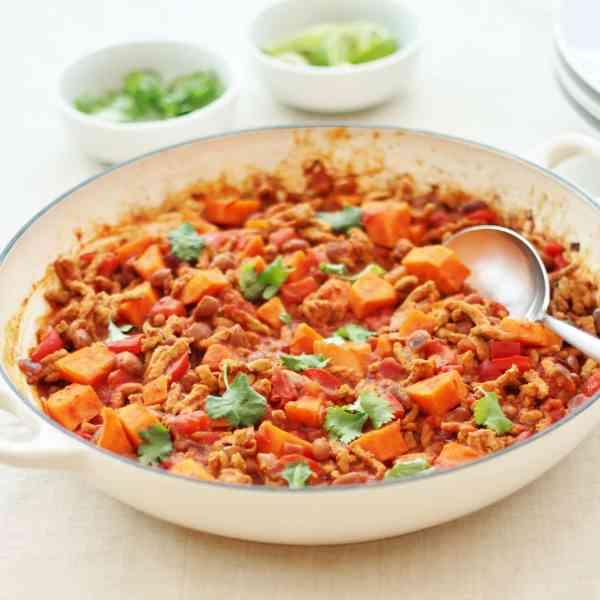 Pork and Sweet Potato Chilli Con Carne
