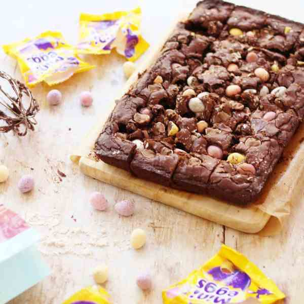 Gluten Free Mini Egg Brownies