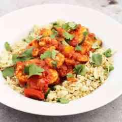 Harissa Prawns and Coconut Cauliflower Rice