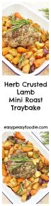 Fancy an easy peasy roast lamb dinner that's ready in under an hour and only uses one pan? Then you have to try this delicious Herb Crusted Lamb Mini Roast Traybake - perfect for Easter lunch, Sunday lunch or even midweek!