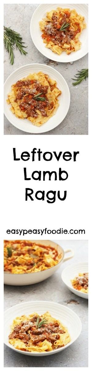 A really quick and easy recipe, this delicious Italian ragu is the perfect way to make the most of your lamb leftovers. In fact this recipe is so good it's worth buying extra lamb just to make sure you have plenty left over!