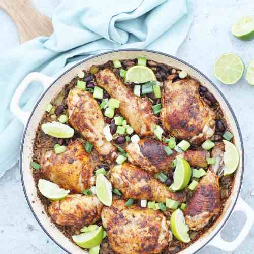 One pot jamaican jerk chicken rice and beans easy peasy foodie forumfinder Image collections
