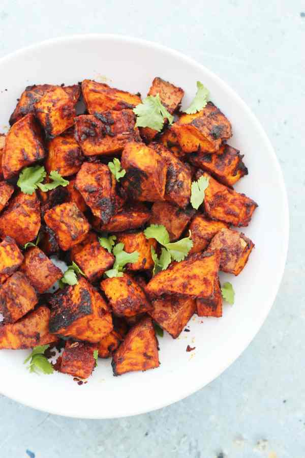 Mexican Roasted Sweet Potato Cubes