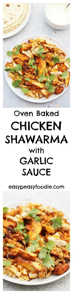 Have you tried chicken shawarma yet? If not then you have been missing a treat – chicken drenched in a deliciously easy marinade, full of gorgeous Middle Eastern spices, then roasted in the oven for 30 minutes – so simple, but unbelievably good! #chicken #shawarma