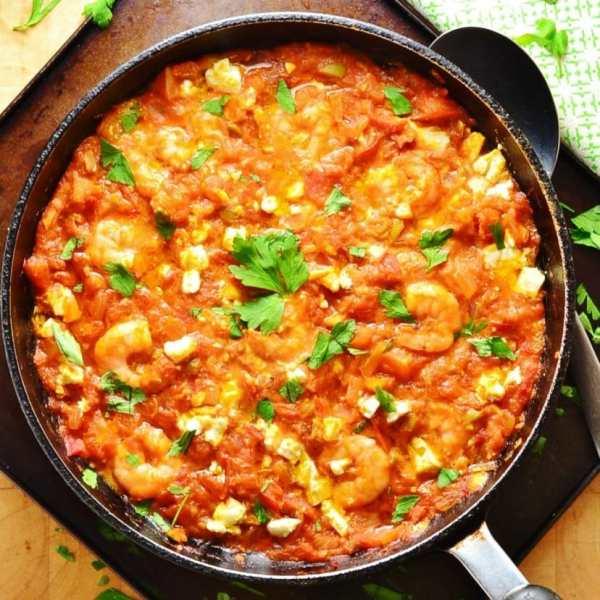 Easy Greek Shrimp Saganaki