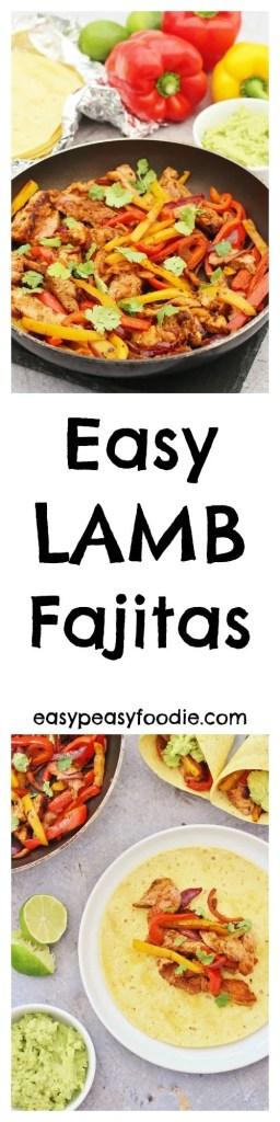 Easy Lamb Fajitas