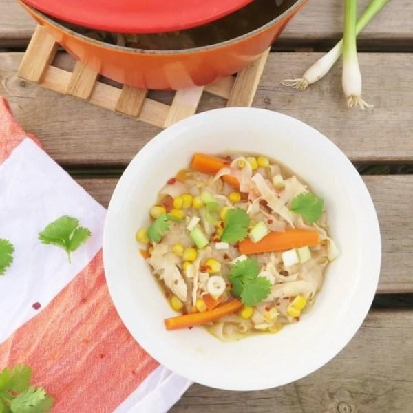 5 Minute Chicken Noodle Soup