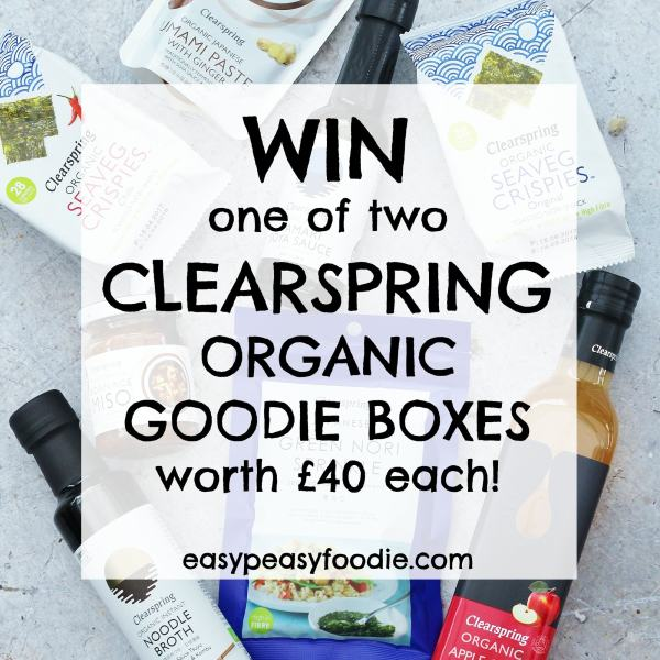 WIN one of 2 Clearspring organic goodie boxes worth £40 each!!