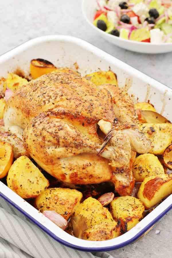Greek Whole Roast Chicken