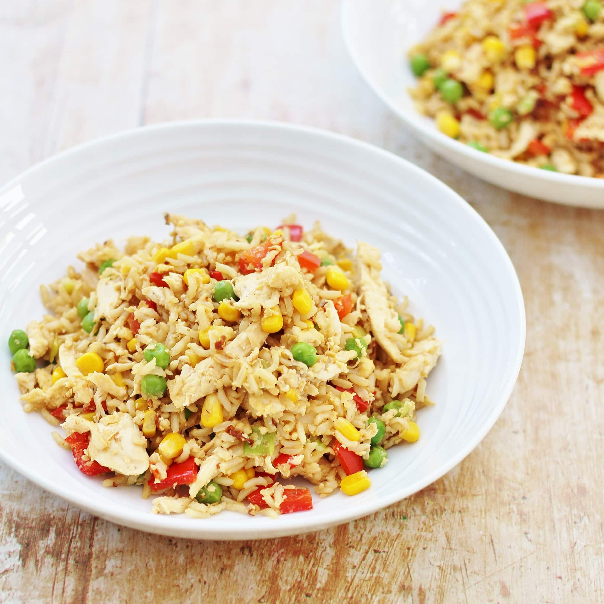 Leftover chicken and egg fried rice easy peasy foodie ccuart Choice Image