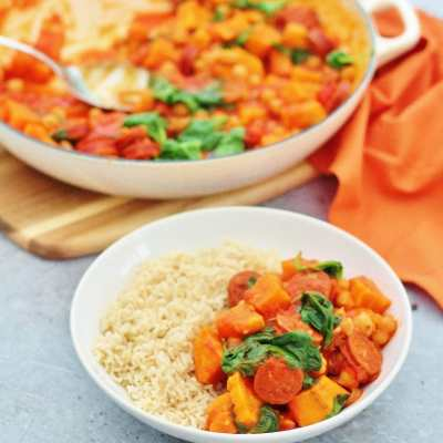 Chorizo, Chickpea and Sweet Potato Stew