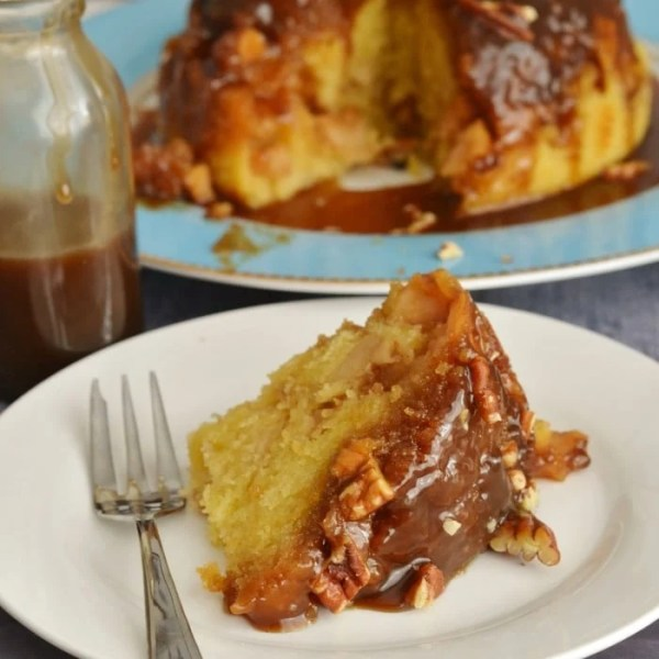 Toffee, Apple and Pecan Steamed Pudding