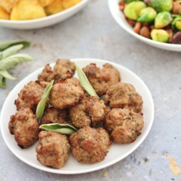 Pork, Sage and Onion Stuffing Balls (Gluten Free, Dairy Free, Egg Free, Nut Free)