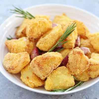 Polenta Roast Potatoes with Rosemary and Garlic