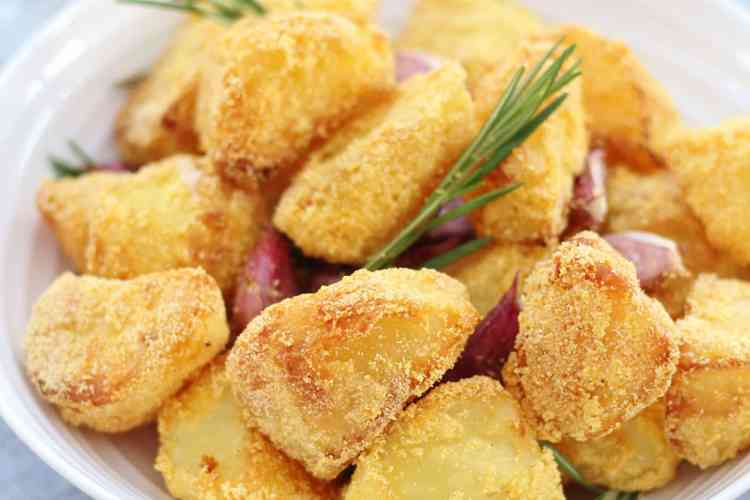 Polenta Roast Potatoes with Rosemary and Garlic