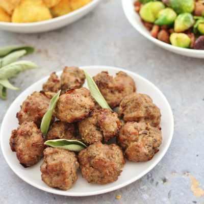 Pork, Sage & Onion Stuffing Balls (Gluten Free, Dairy Free, Egg Free, Nut Free)
