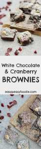 White Chocolate and Cranberry Brownies