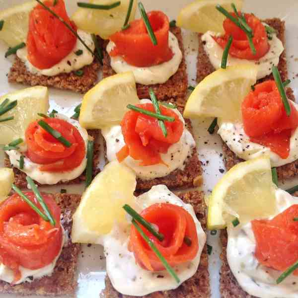 Smoked Salmon on Rye Bread