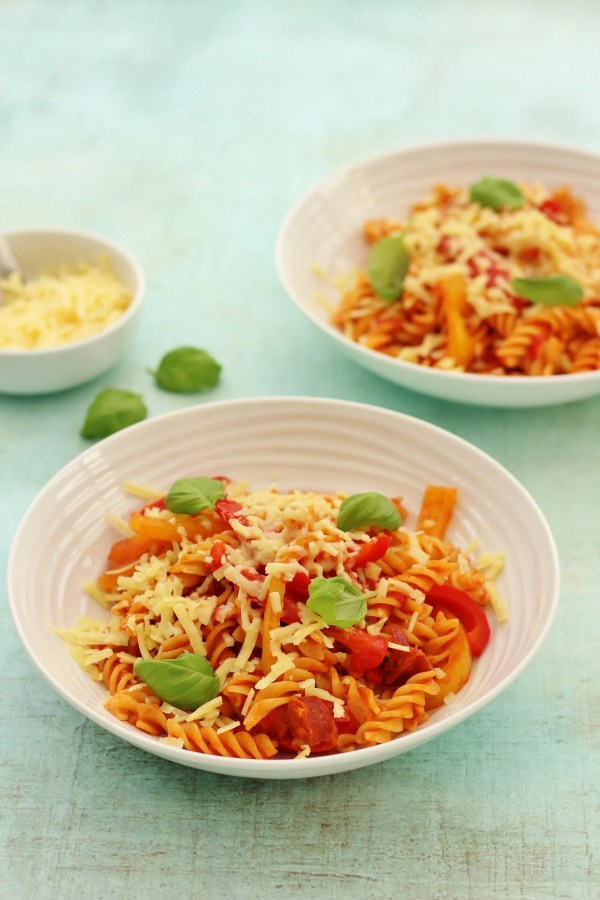 Tomato, Pepper and Chorizo Pasta