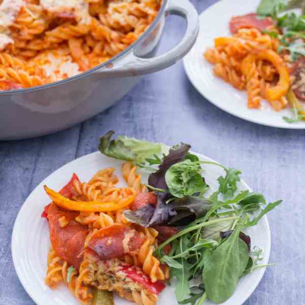 Easy One Pot Pepperoni Pizza Pasta