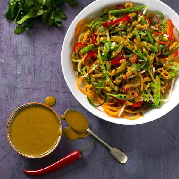 Spicy Thai Salad with Peanut Dressing