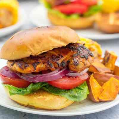 Peri Peri Chicken Burgers (Nando's Copycat)