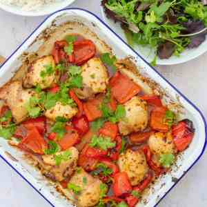 Sticky Chicken Traybake