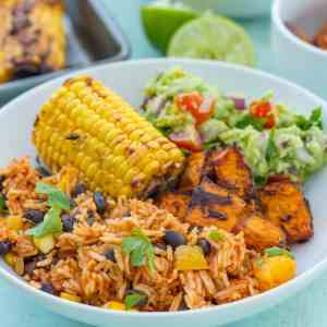 Easy One Pot Mexican Rice with Black Beans and Corn (Vegan)