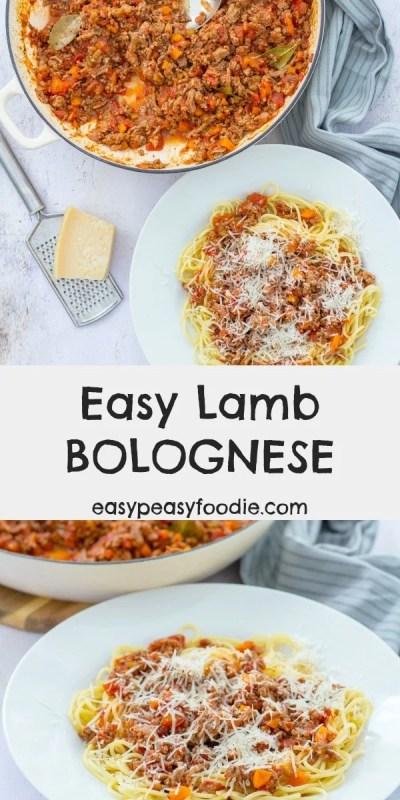 A tasty twist on a family classic, this Easy Lamb Bolognese can be made with lamb mince or leftover roast lamb for a speedy midweek dinner. #lamb #lambmince #pasta #spaghetti #bolognese #leftoverlamb #lambleftovers #easydinners #midweekmeals #familydinners #easypeasyfoodie #cookblogshare #freefromgang