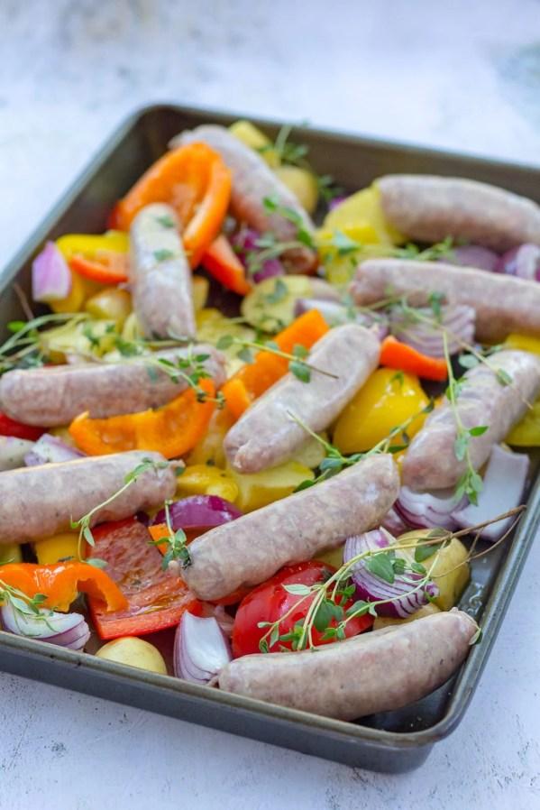 Easy Sausage Traybake