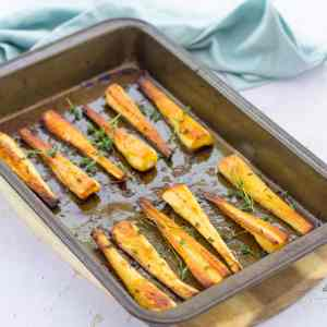 Roast Parsnips with Honey and Thyme