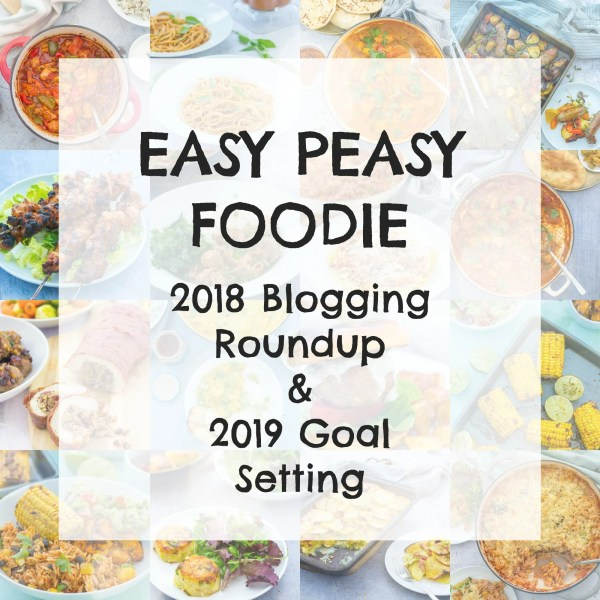 Happy New Year to all of you – my amazing, fabulous readers, subscribers, followers and friends!!! Another crazy, fun-filled year of blogging is over and a new one is just beginning… Let me tell you all about it in my Easy Peasy Foodie 2018 Blogging Roundup! Find out what I have been up to… Find out whether I succeed in the goals I set myself last year… And discover what I have planned for 2019!! #2019goals #goalsetting #2019planning #goals #planning #2018review #yearinreview #easypeasyfoodie