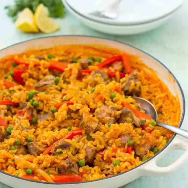 Lamb Paella (Paella de Cordero)