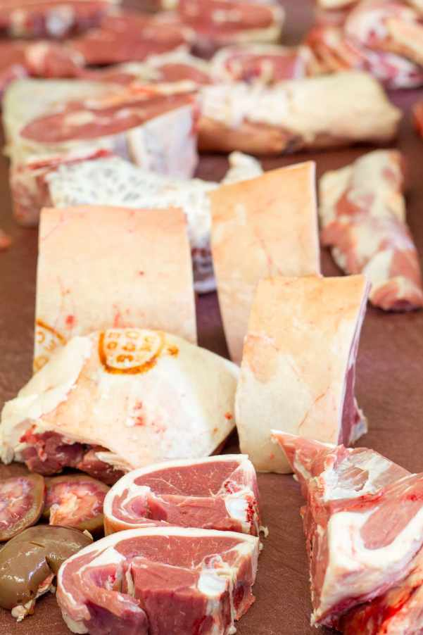 Different cuts of Welsh Lamb