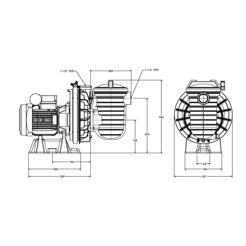 Pompe filtration Serie 5P2R mono en 1