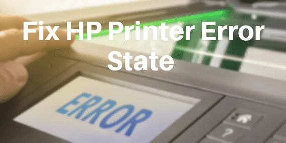 printer is in an error state,printer is in error state,printer in error state,printer in an error state