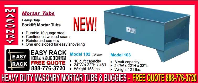 Mortar Tubs & Masonry Buggy
