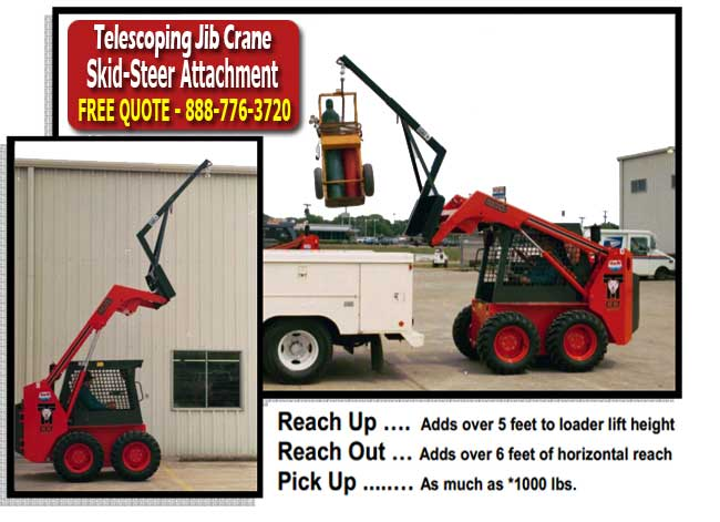 Jib Crane Skidsteer Attachment