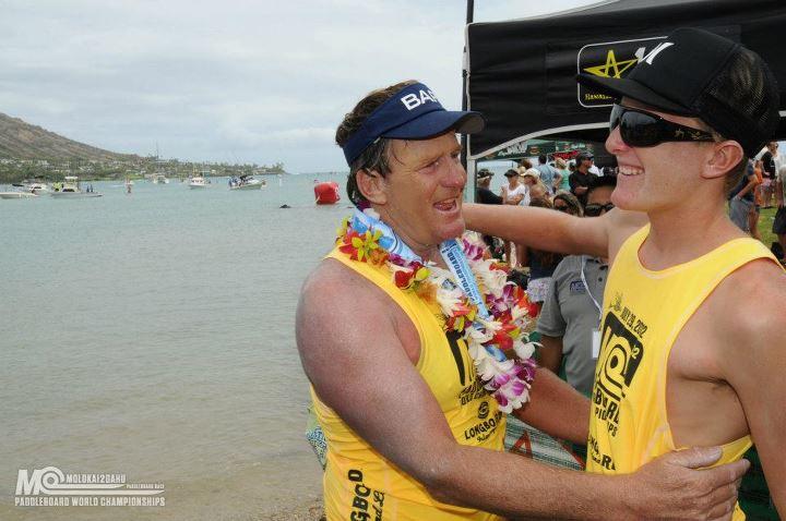 Joe and Jack Bark Molokai Paddle - EasyReader - Jim Caldwell Redondo Beach